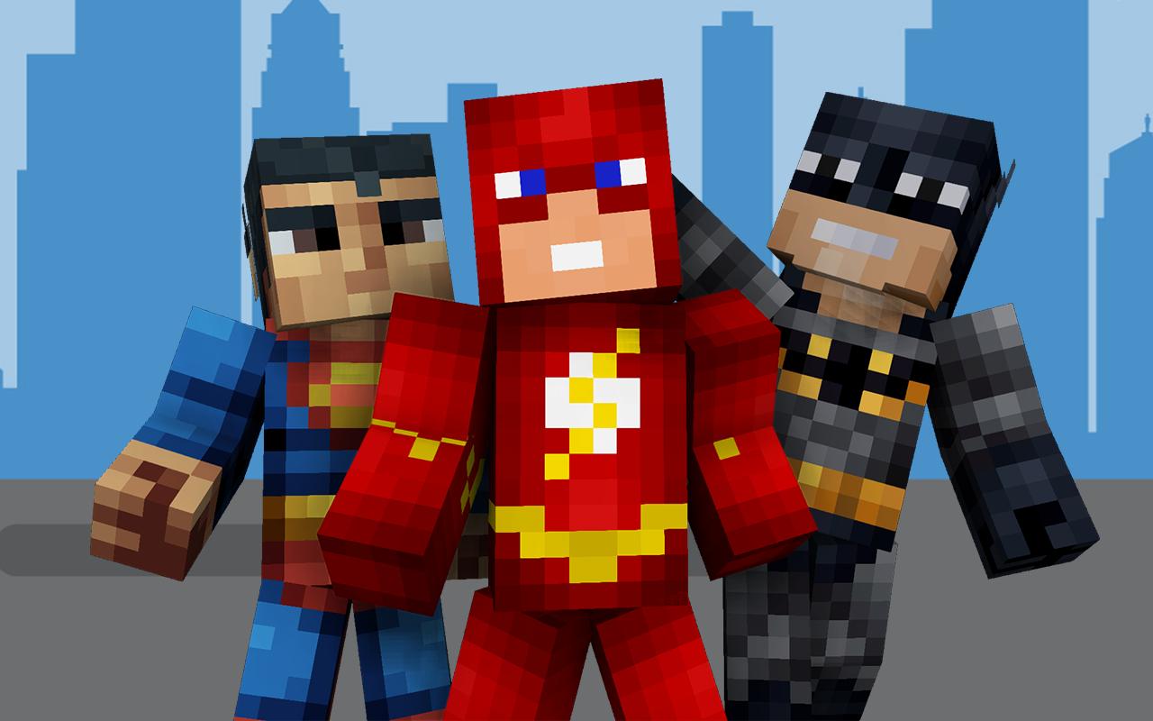 майнкрафт скины супергероев #3