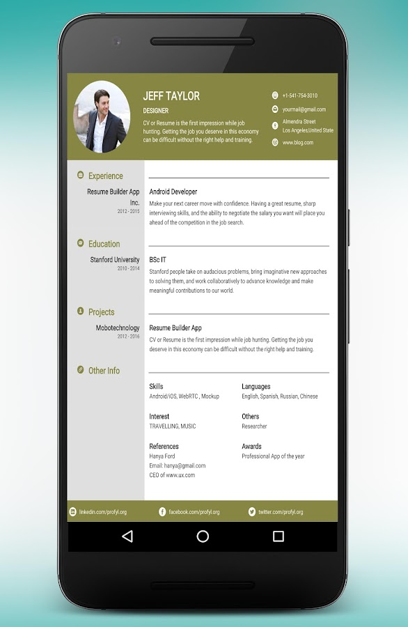 resume builder and cv maker app 895pro screenshot 22 - Resume Maker App