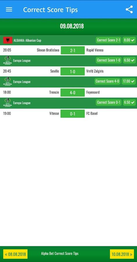 Correct score betting tip bute vs pascal betting odds