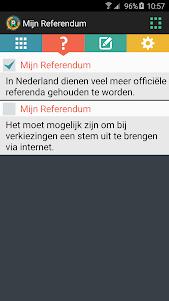 Mijn Referendum 1.2.0 screenshot 1