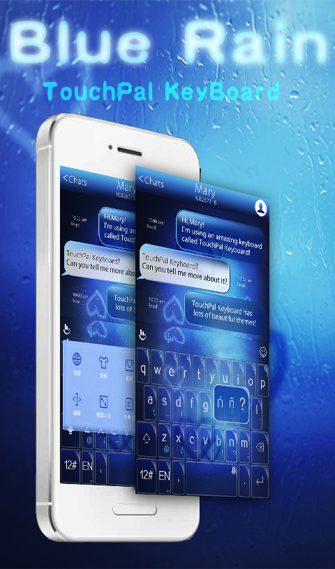 TouchPal Blue Rain Theme 6 2 14 2019 APK Download - Android Weather Apps