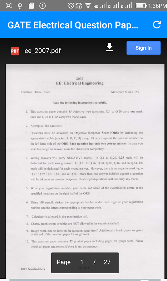 gate electrical questions 1 3 apk download android education apps