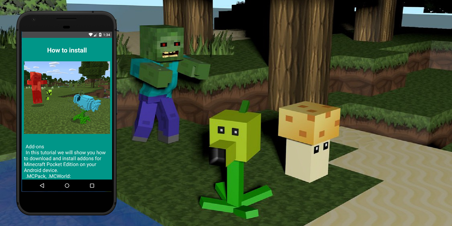Plants-vs-Zombies mod for Minecraft PE 1 0 APK Download