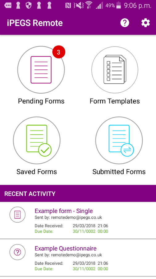 iPEGS Remote - Form Filling App 1 9 7 APK Download - Android