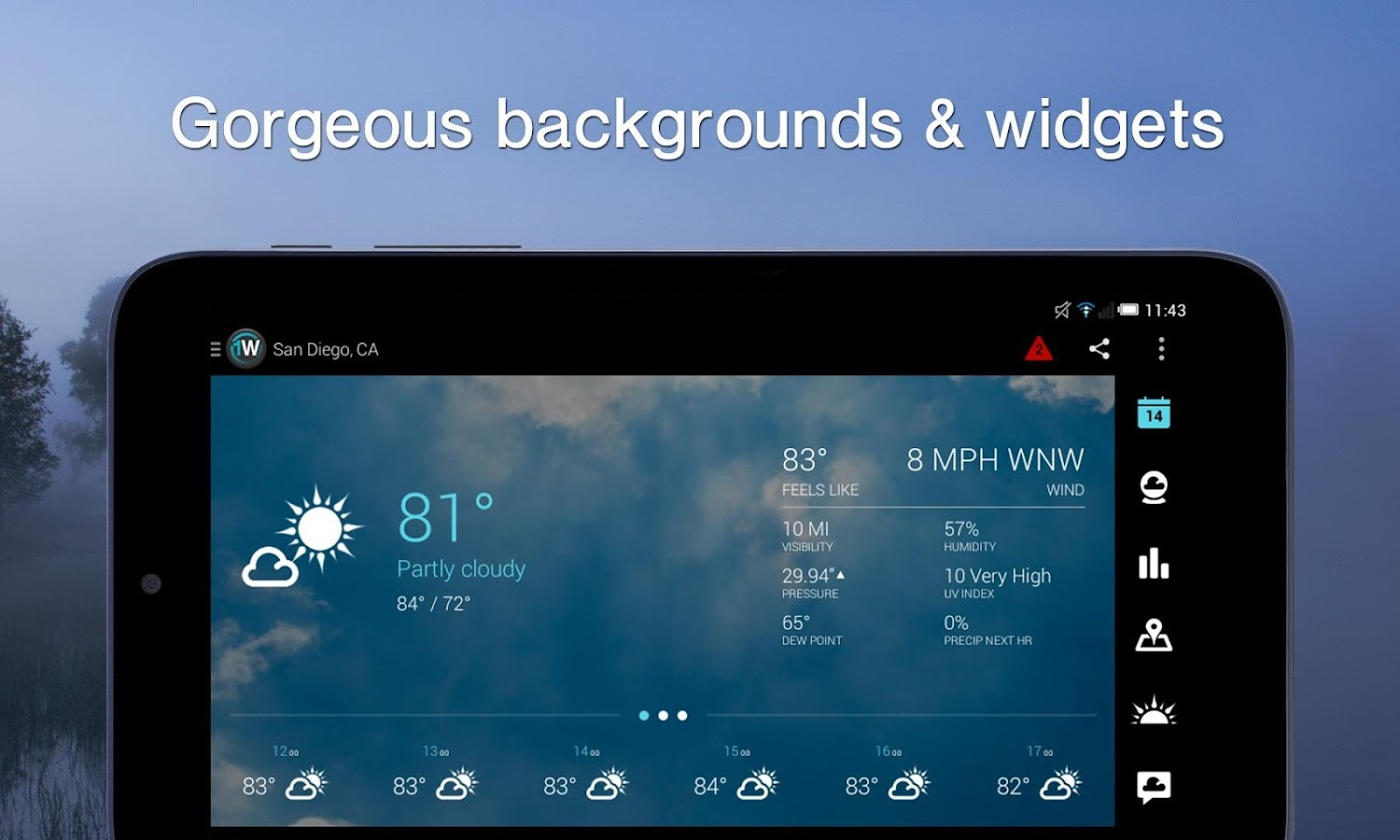 1Weather:Widget Forecast Radar 3.3.5.1 APK Download - Android Weather ...