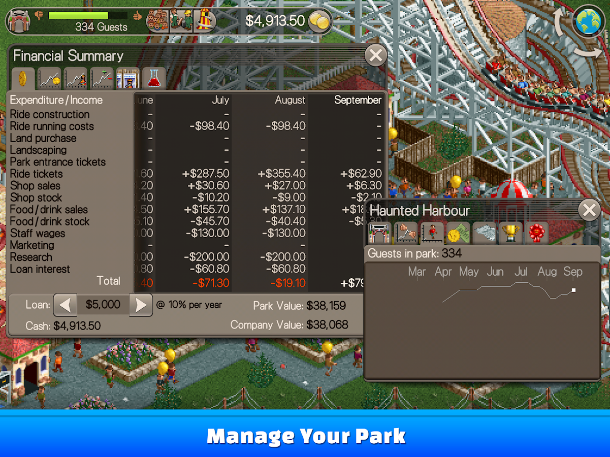 RollerCoaster Tycoon® Classic 1 2 1 1712080 APK Download - Android
