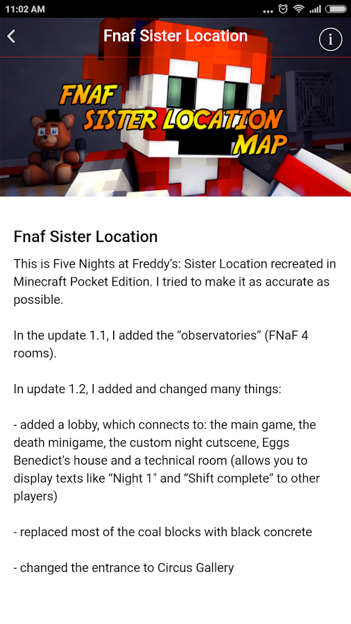 Map Fnaf Sister Location for Minecraft PE 1 2 APK Download - Android