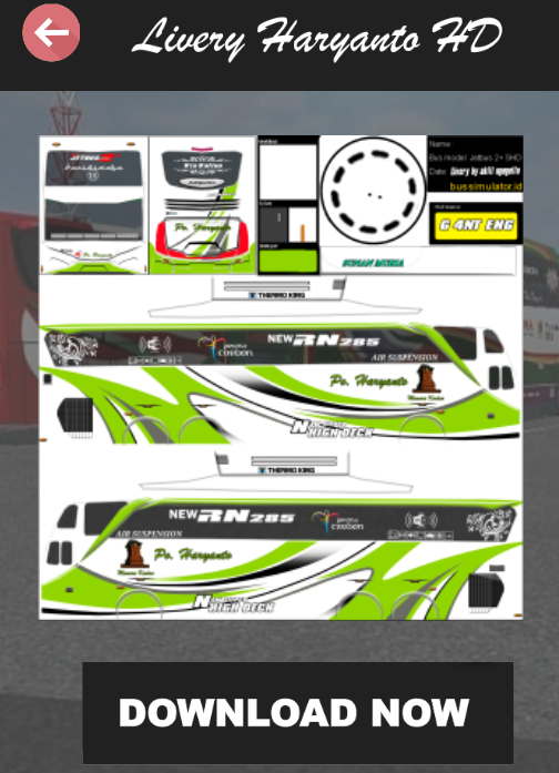 Livery Bussid Haryanto 4 0 Apk Download Android Simulation