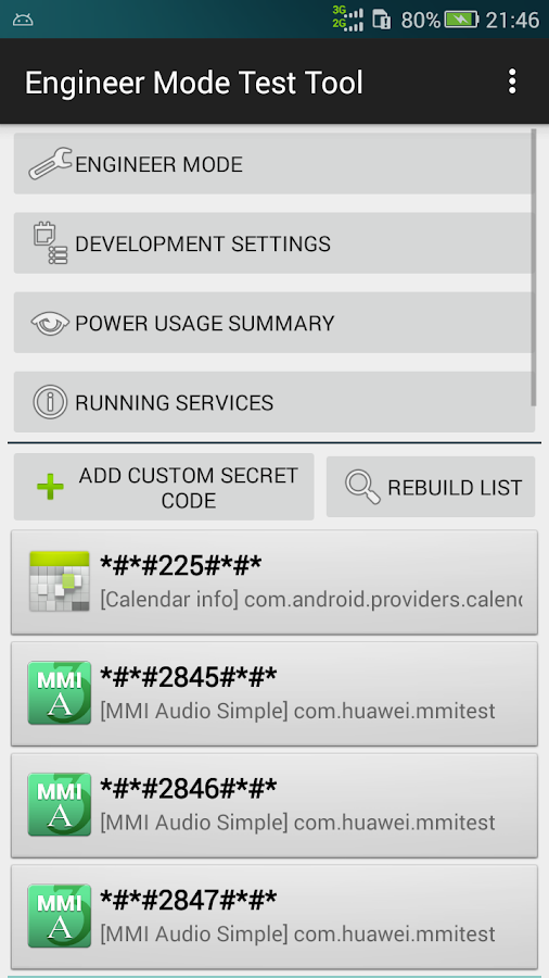 Engineer Mode Test Tool 1 7 1 APK Download - Android Tools Apps