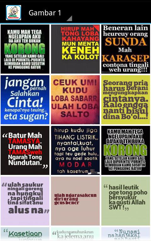 Kata Lucu Bahasa Sunda 15 Apk Download Android