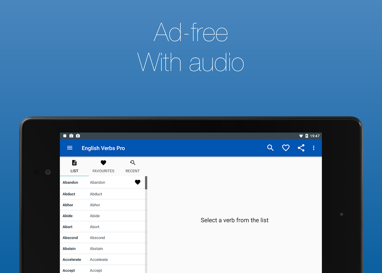 English Verb Conjugator Pro 3.2.7 APK Download - Android Education Apps