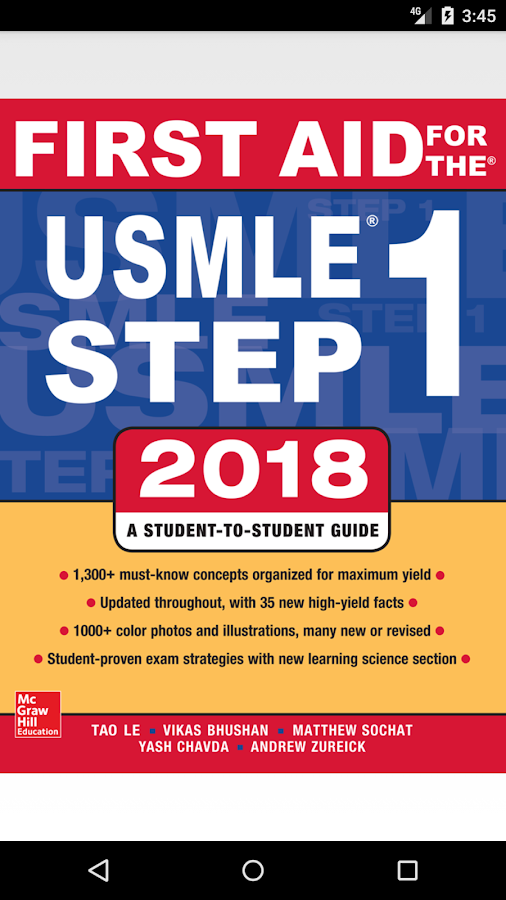 First Aid For The USMLE Step 1, 2018 1 2 APK Download - Android