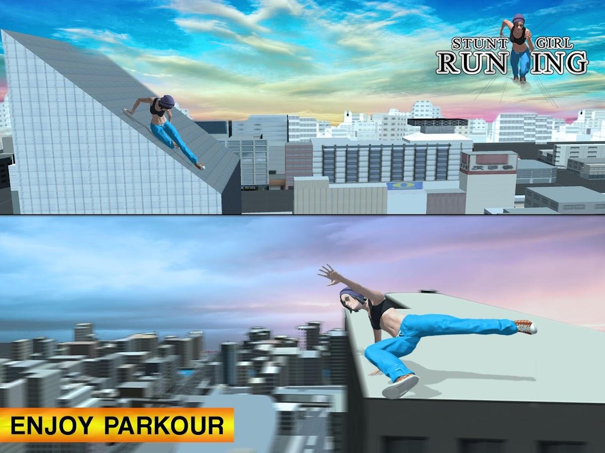 Parkour Flight Stunt Girl Run: Free Running Games 1 0 3 APK