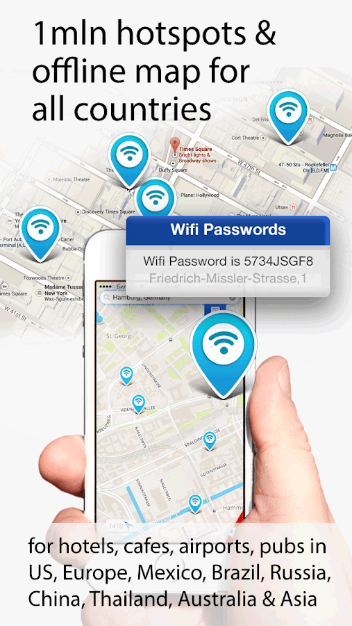 Map Wifi: free wifi +passwords 1.5 APK Download - Android ...