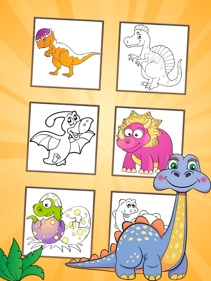Dinosaurs Coloring Pages 116 Screenshot 6