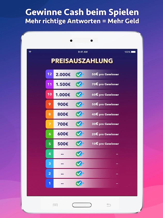 Cash Show - Gewinne Geld! 2.13.0 APK Download - Android Trivia Games