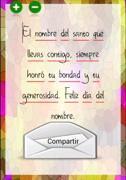 Felicitaciones Santos Bonitas.Felicitaciones De Santo 2 21 Apk Download Android