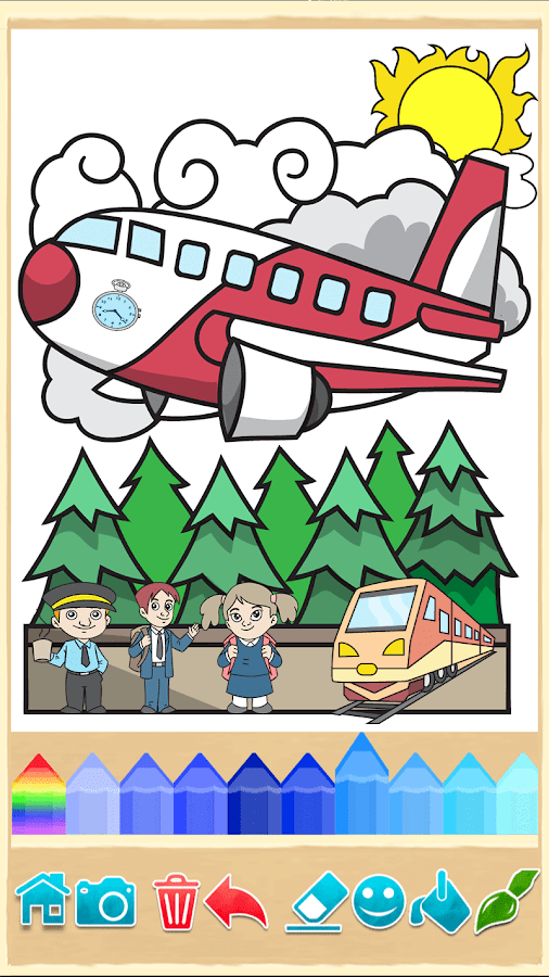Beautiful Coloring Pages Screenshot 4 Planes Painting Game 5