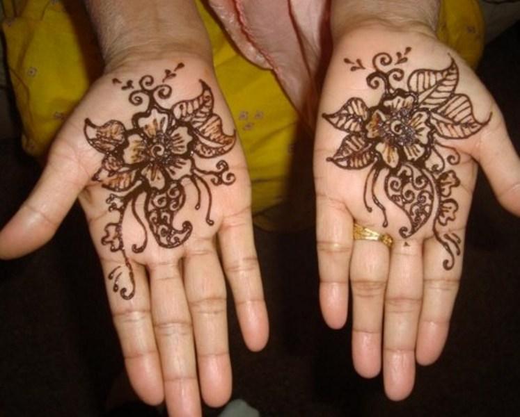 Gambar Henna Telapak Tangan Simple