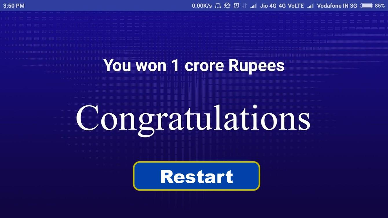 ... Crorepati game : Quiz App 2018 1.0.5 screenshot 5 ...
