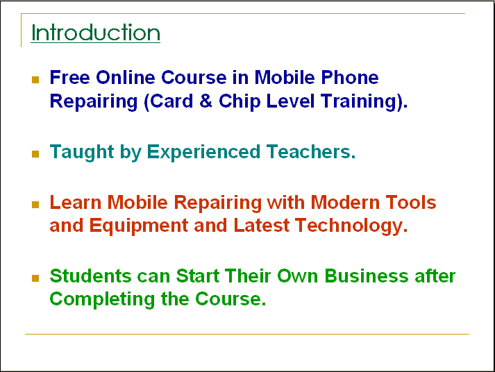 Mobile Phone Repairing 0 1 APK Download - Android Education Apps