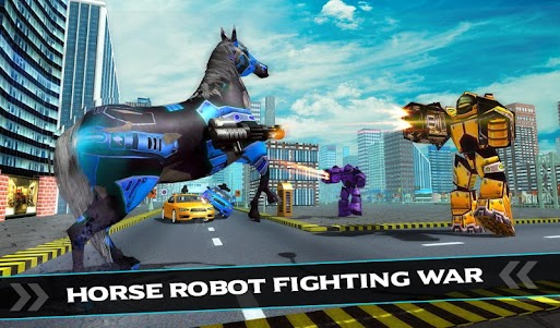 US Police Car Robot War Wild Horse Robot Transform 1.1 screenshot 13