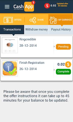 Download Cash App 1.2 APK - Android Entertainment Apps