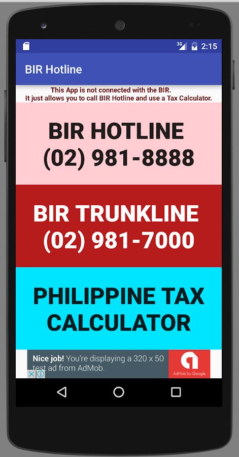BIR Hotline 1 0 APK Download - Android Tools Apps
