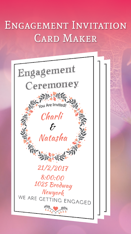 Engagement Invitation Card Maker 2 0 Apk Download Android