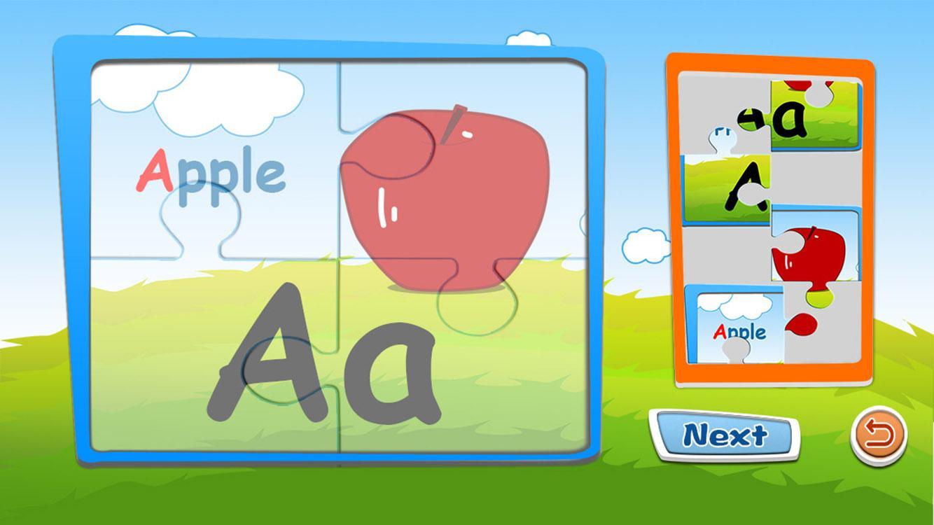 Alphabet jigsaw puzzle & flashcards kids game 1 6 APK