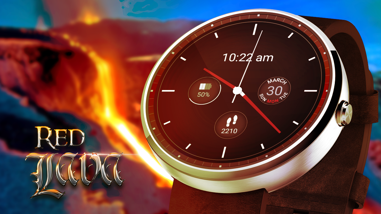 Red Lava Analog Watch Face Apk Download Android Personalization Apps Circuit Board Clock V 10 For G Facerepo Screenshot 1