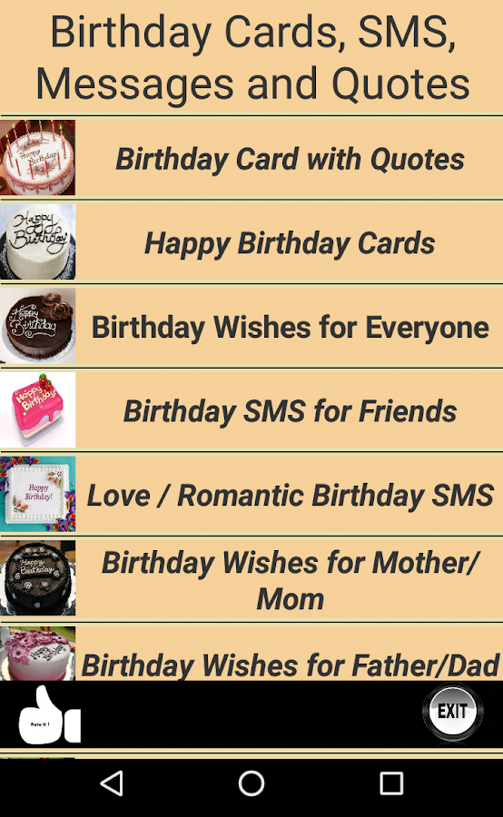 Happy Birthday Cards Quotes 800 Apk Download Android Social Apps