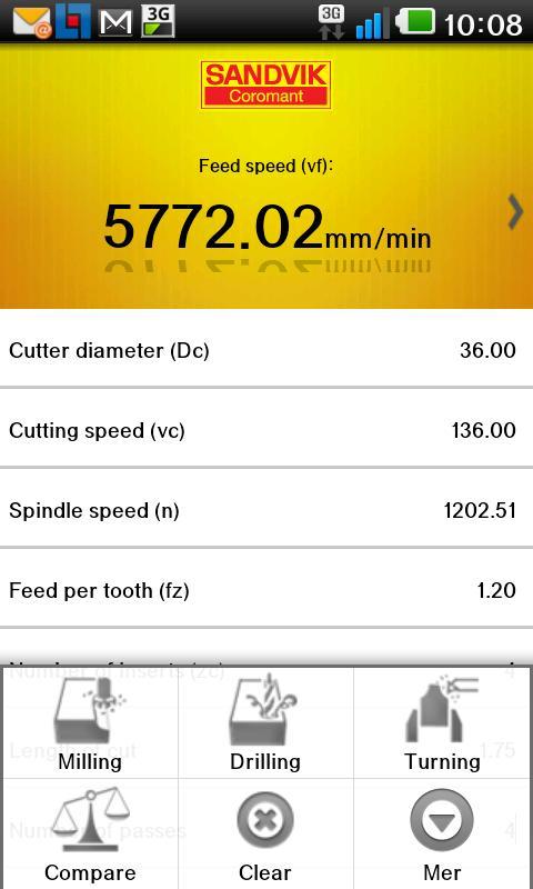 Sandvik Coromant Calculator 1 2 6 APK Download - Android