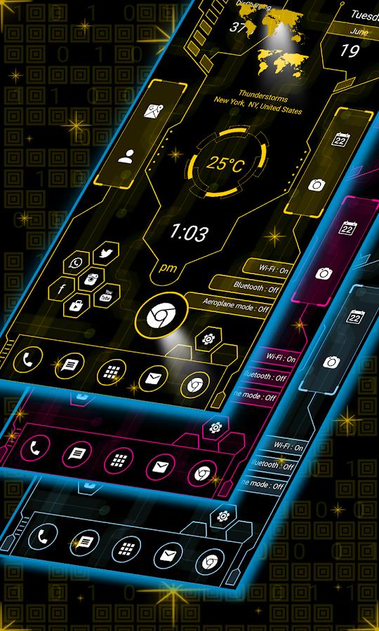 Hi-tech Launcher 2 - 2019, Future of UI, Free 5 0 APK Download