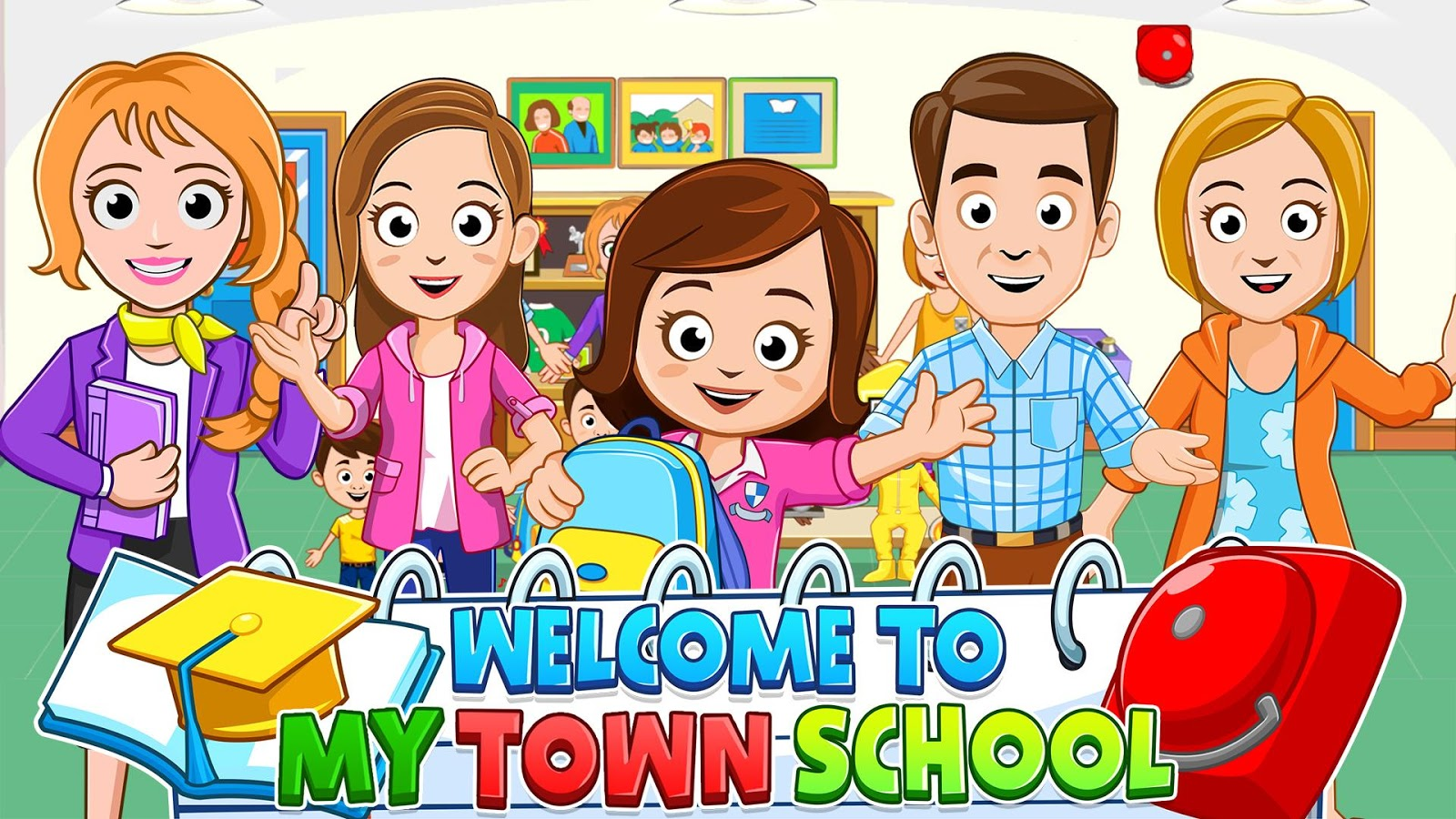 My Town : School 1 8 APK Download - Android Educational Games