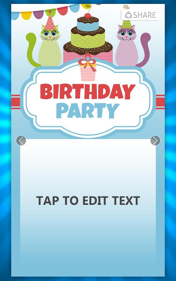 Birthday Invitation Card Maker 7 0 Apk Download Android