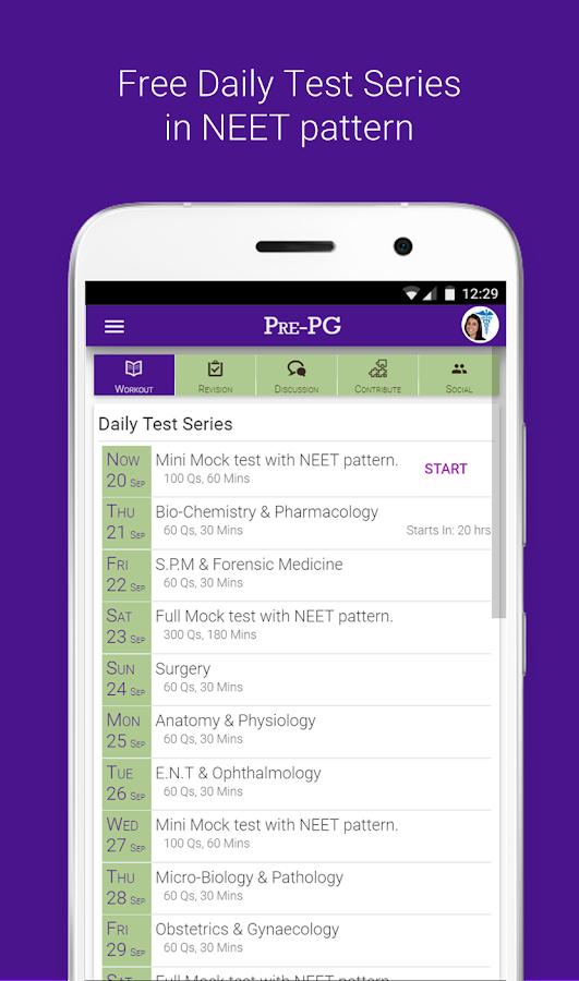 Pre-PG Prep: NEET-PG AIIMS PGI - MCQs, Test Series 1 0 01