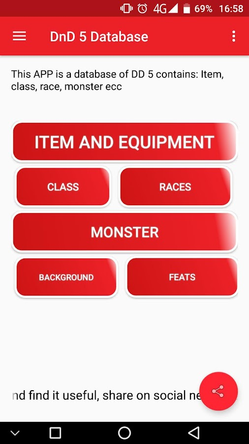 DnD 5e Database Pro 2 9 APK Download - Android Books & Reference Apps