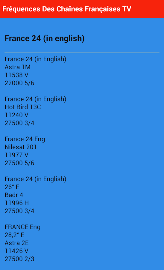 Frequency of French TV channel 1 0 1 APK Download - Android