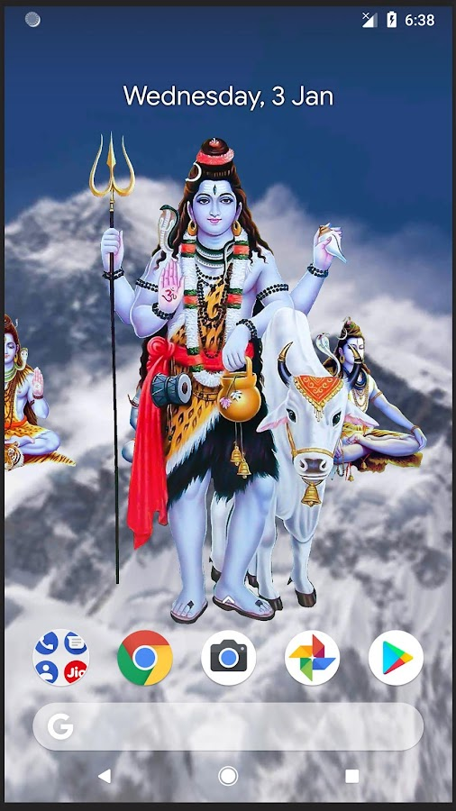 4d Shiva Live Wallpaper 90 Apk Download Android Personalization Apps