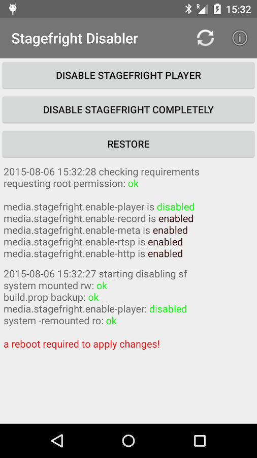 root] Stagefright Disabler 1 0 8 APK Download - Android Tools Apps