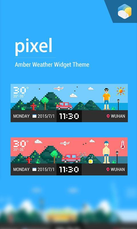 Pixel style weather widget 16 1 0 46773 APK Download - Android