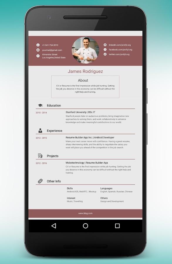 Resume Builder and CV maker app 8.9.2.pro APK Download - Android ...