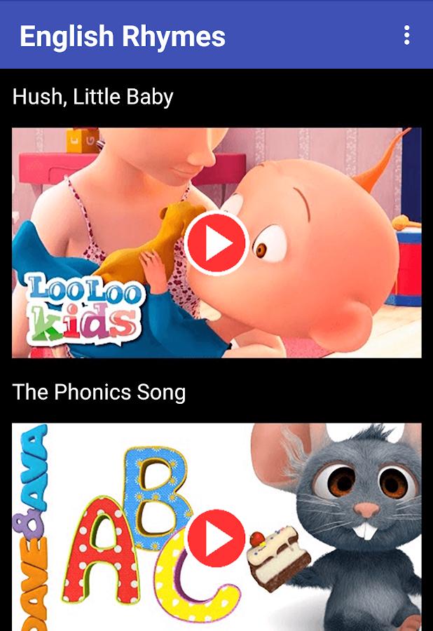 English Rhymes - baby,video,songs,kids,rhymes 1 1 APK Download