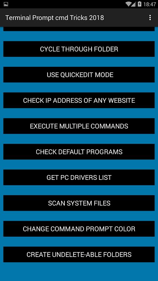 Windows Dos : Cmd Terminal Prompt Tricks 3 1 APK Download