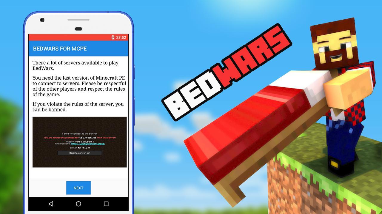 minecraft bedwars download pe
