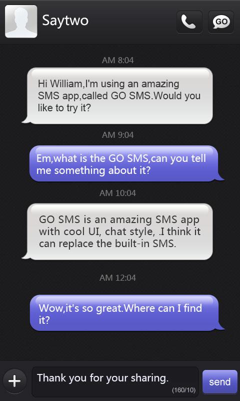 go sms pro iphoneblack themeex 1 0 apk download android