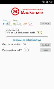 Calculadora Sub/PF Mackenzista 1.271 screenshot 2