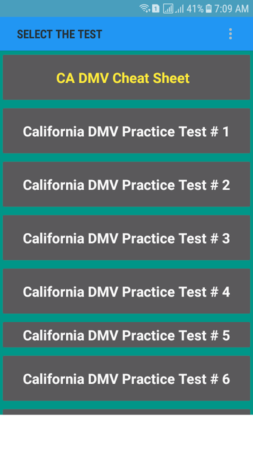 California DMV Practice Test 2018 1 01 APK Download - Android