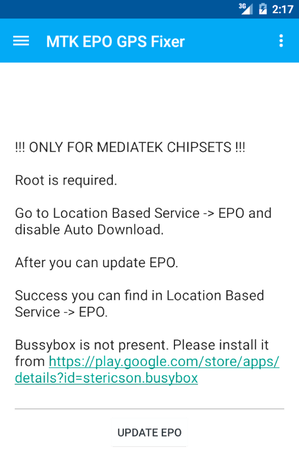 MTK EPO GPS Fixer 1 4 APK Download - Android Tools Apps